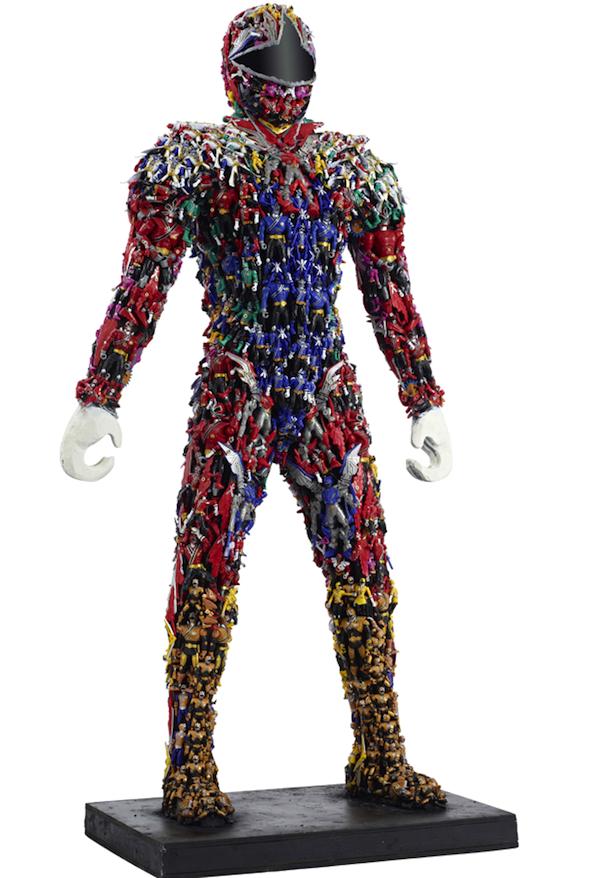 a power ranger made out of power rangers creativitism