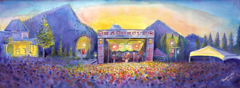 FriscoBBQFest-Tour Paintings by David Sockrider