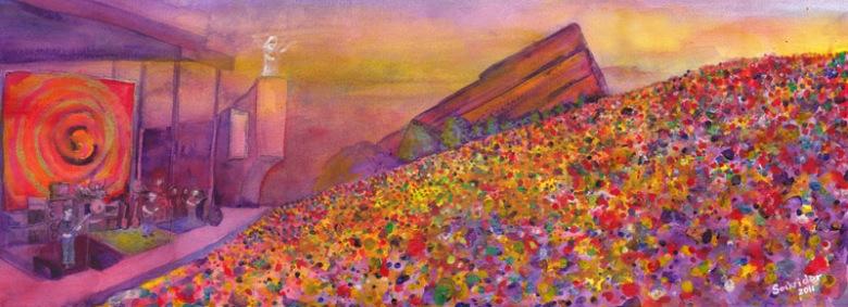 Furthur-Redrocks Tour Paintings by David Sockrider