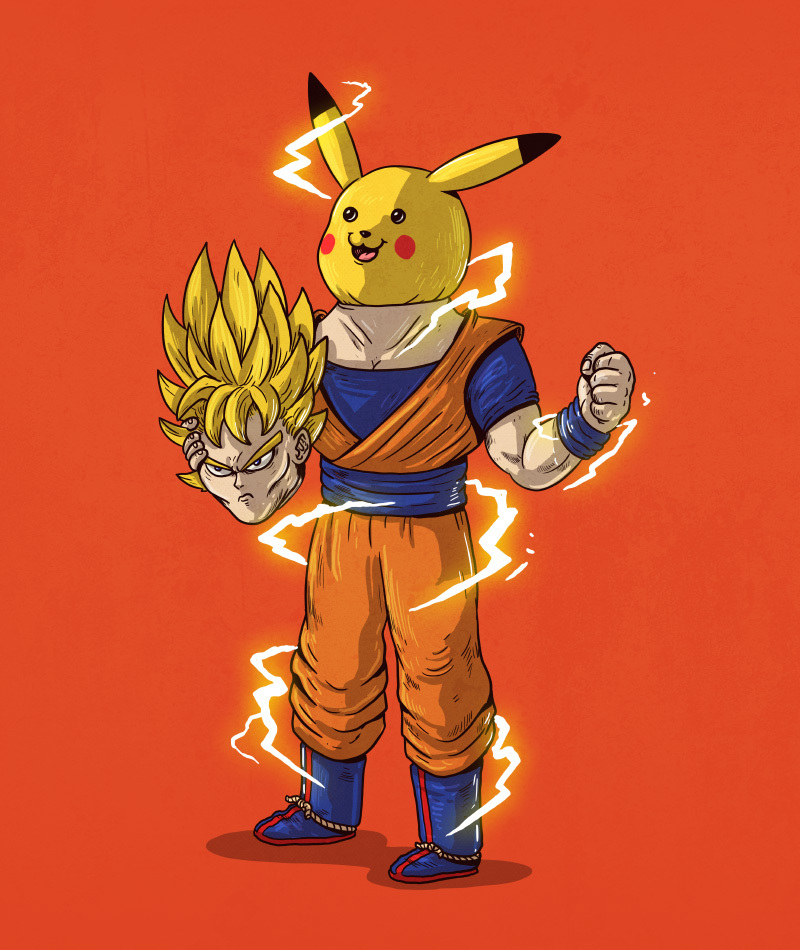 goku_iu_- Illustrator Alex Solis Unmasks the True Identities of Famous Cartoon Characters