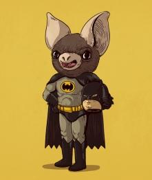 batman - Illustrator Alex Solis Unmasks the True Identities of Famous Cartoon Characters