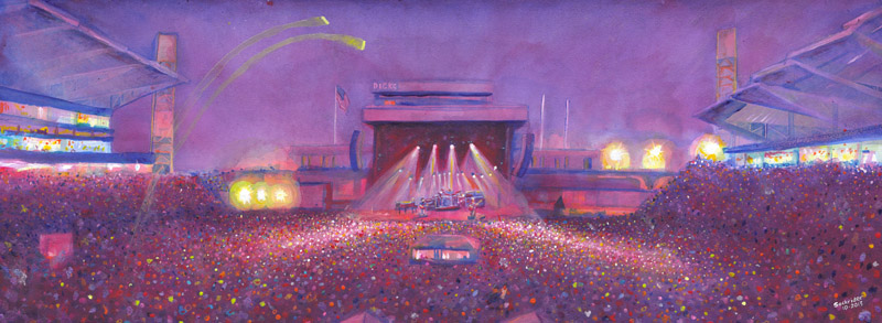 Phish-Dicks9-30-13 Tour Paintings by David Sockrider