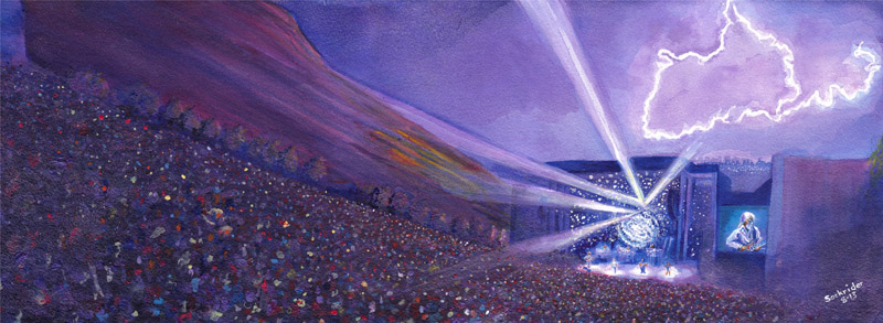 WP-Redrocks13-Lightning Tour Paintings by David Sockrider