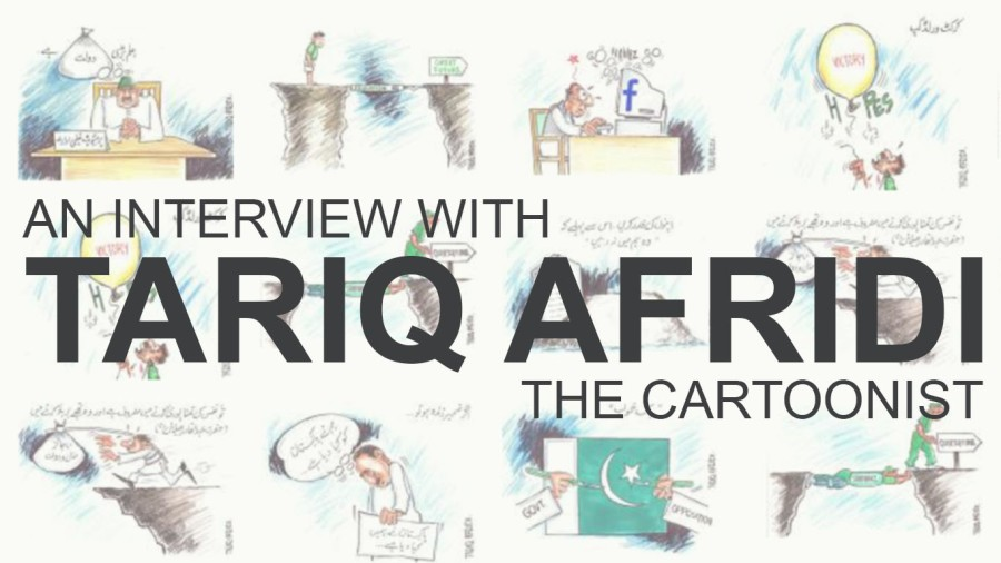 An interview with Tariq Afridi The Cartoonist