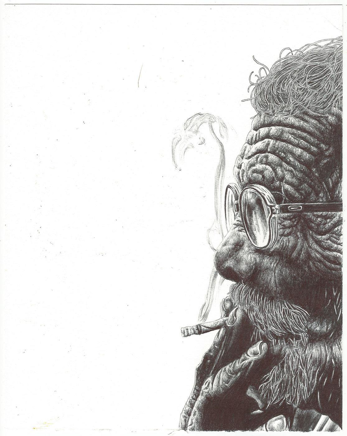 Ballpoint Pen SketchbookDrawings